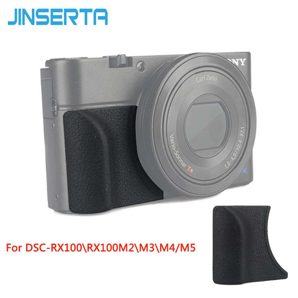 JINSERTA Attachment Grip For Sony RX100M5 RX100M4 RX100M3 Replace As AG-R2 With M3 Sticker