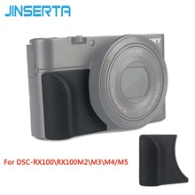 JINSERTA Kèm Tay Cầm cho Sony RX100M5 RX100M4 RX100M3 Thay Thế Như AG R2 với M3 Miếng Dán