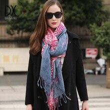 2017 Women Winter Fashion Boho Style Plaid Thick Warm Poncho Cashmere Sweater Pashmina Scarves and Stoles Oversized Blanket Wrap