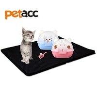 Petacc Black Waterproof Cat Litter Mat Double Layer Honeycomb Pet Mat Washable Kitty Litter Trapper Light