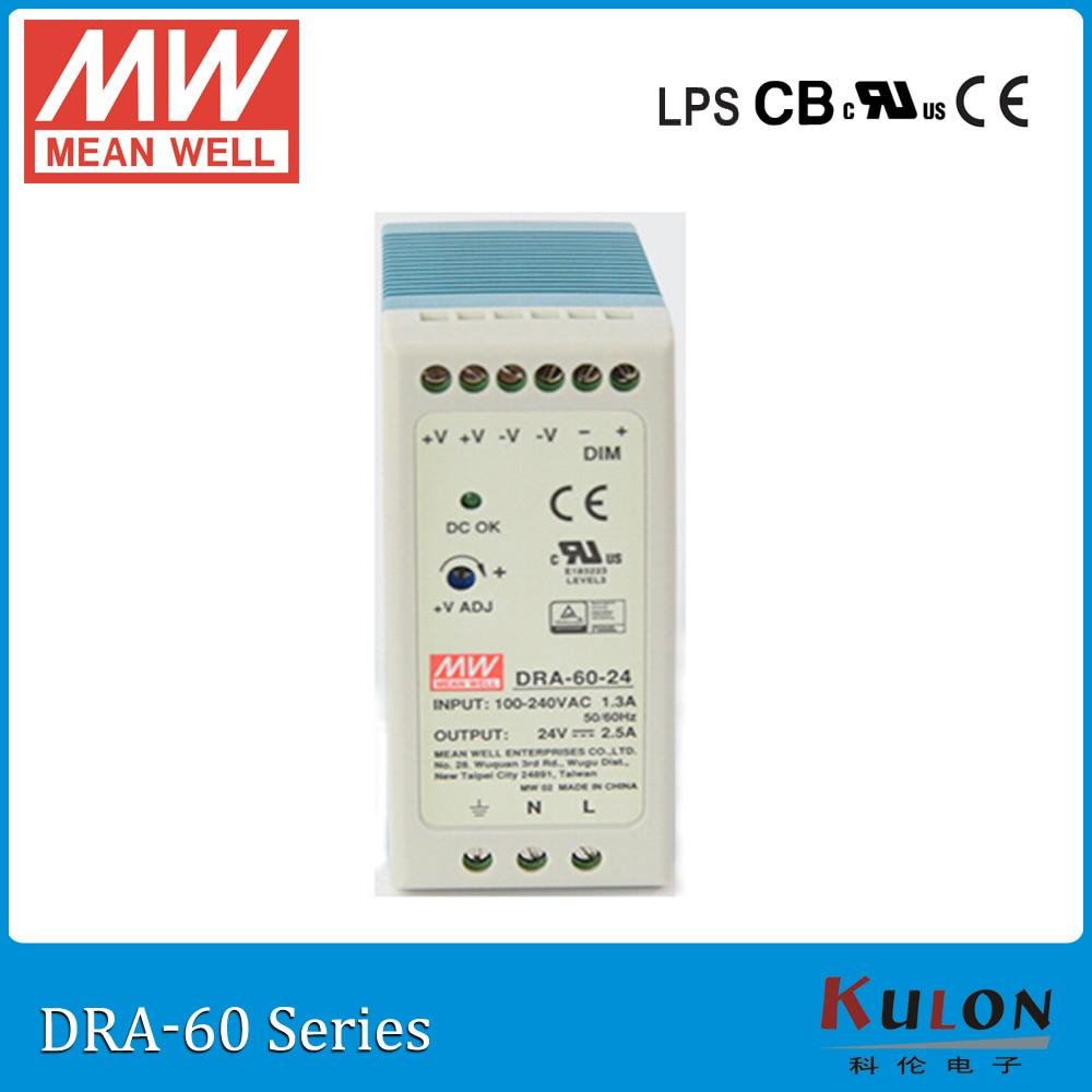 Origine Mean Well Dra 60 12 60 W 5a 12 V Industrielle Rail Din
