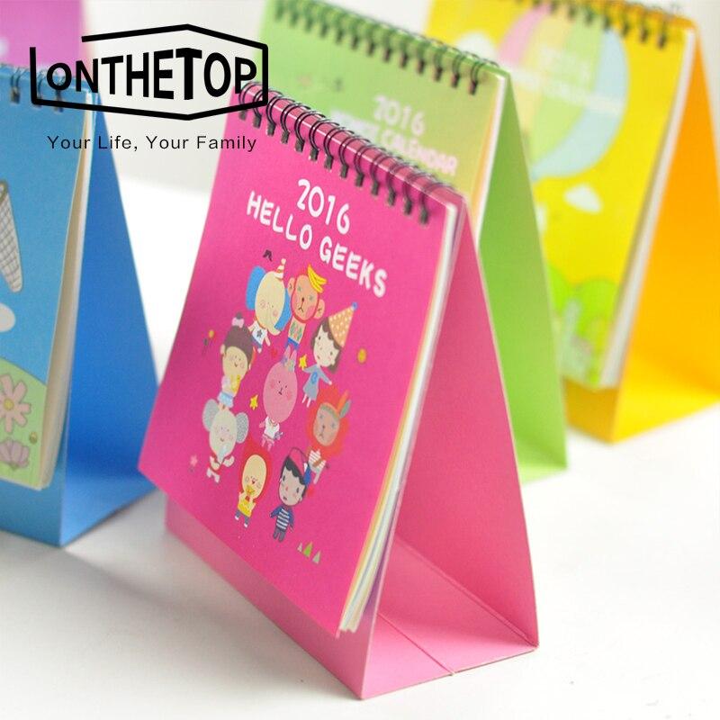 efectos de escritorio creativos lindos mini animal retro calendario calendario de escritorio oficina de la escuela regalo de la promocin jp en