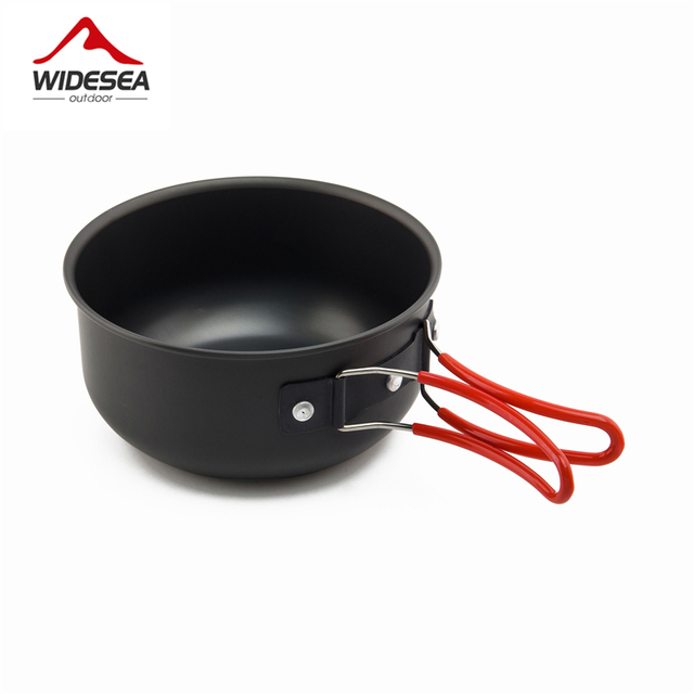 Non-stick Pots Pans Portable Outdoor Camping Hiking Cooking Set Cookware travel tableware