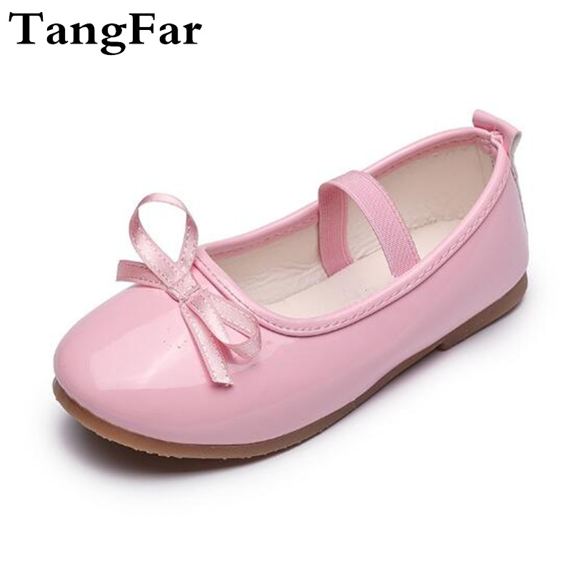 Girls Princess Shoes Patent Leather Bow Red Shoes For Kids Soft Moccasins  Fashion Children Flats Mary 0624b8125d6d