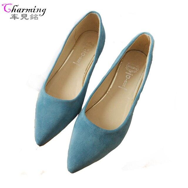 Коллекция 2016 года модные женские туфли женские туфли на плоской подошве высокое качество повседневные удобные замшевые женские туфли на резиновой подошве с острым носком лидер продаж новая обувь на плоской подошве
