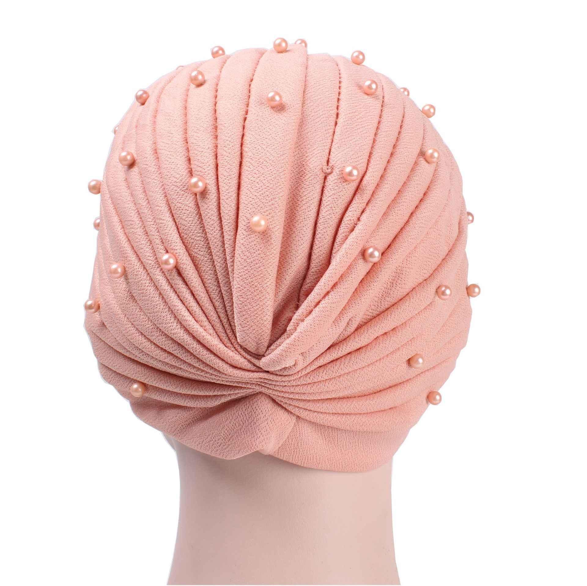 חדש מוסלמי שמלת כיסויי ראש ציפורניים חרוזים קפלים פשוט Headcaps חיג 'אב Caps העבאיה