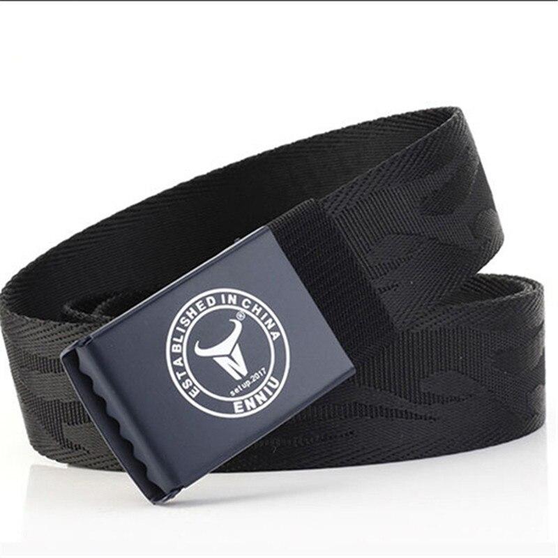 Correa Simple Army Belt Fashion Men Women Unisex High Quality Belts Webbing Canvas Metal Buckle Jeans Accessories Waistband