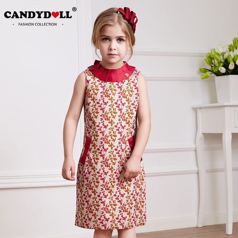 Candydoll summer girls dresses children girls dress princess dress candydoll summer girls dresses children girls dress princess dress sleeveless printed dress flower collar girls clothing saj3064 in dresses from mother voltagebd Gallery