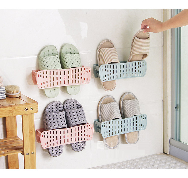 Shoe Hanger Creative Folding Paste Rack Home Simple Storage Bathroom Wall Mounted