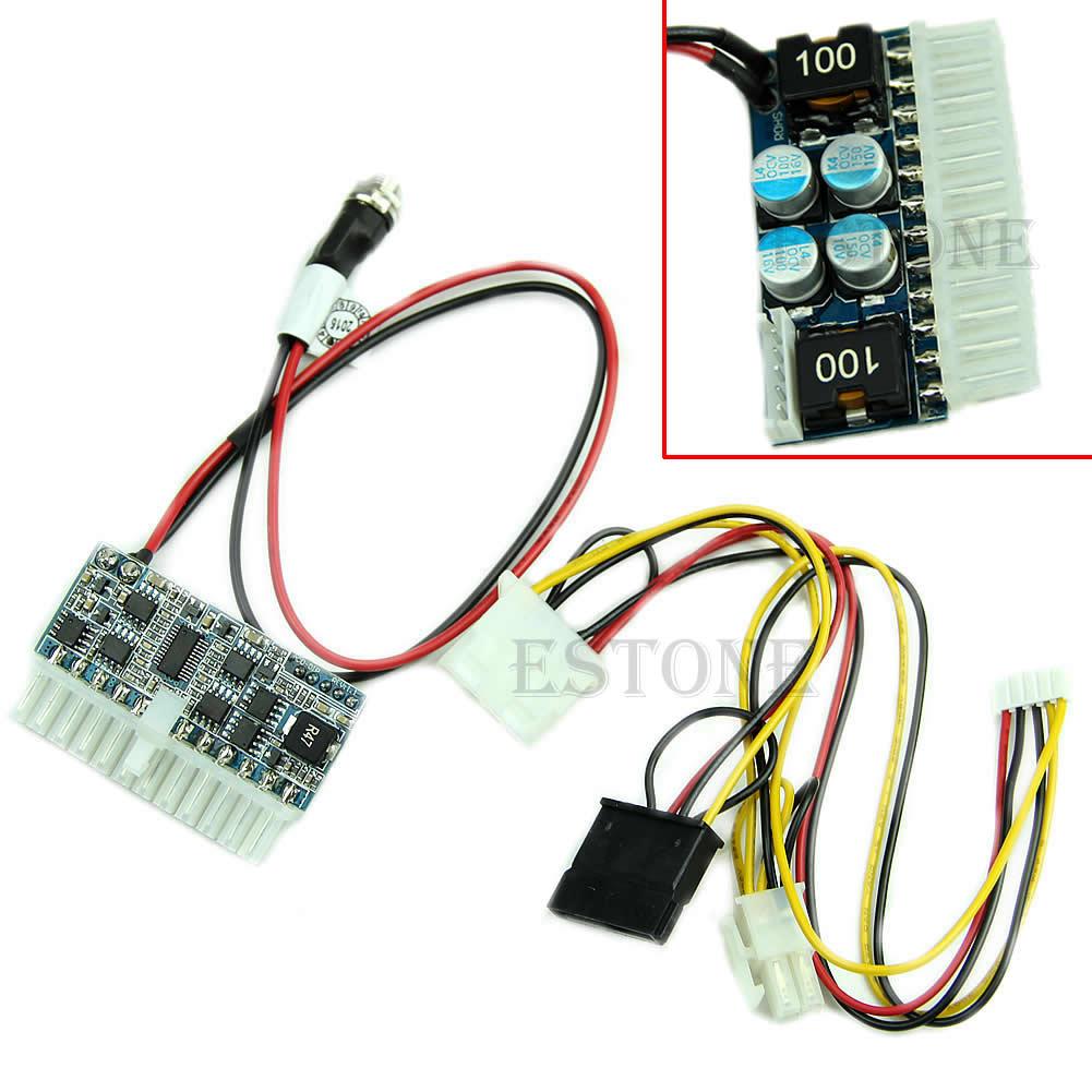 Dc 12 v 160 w 24pin pico atx interruptor psu carro auto mini itx alta fonte de alimentação módulo g08 grande valor abril 4