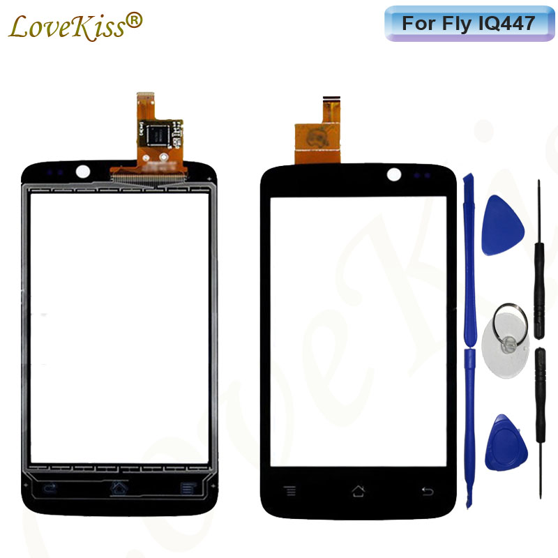 IQ447 Touchscreen Front Touch Panel For Fly IQ447 ERA Life 1 IQ 447 Touch Screen Sensor Digitizer LCD Display TP Glass Tools