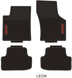 Specjalne dywany bez zapachu wodoodporne gumowe dywaniki samochodowe do Seat LEON IBIZA