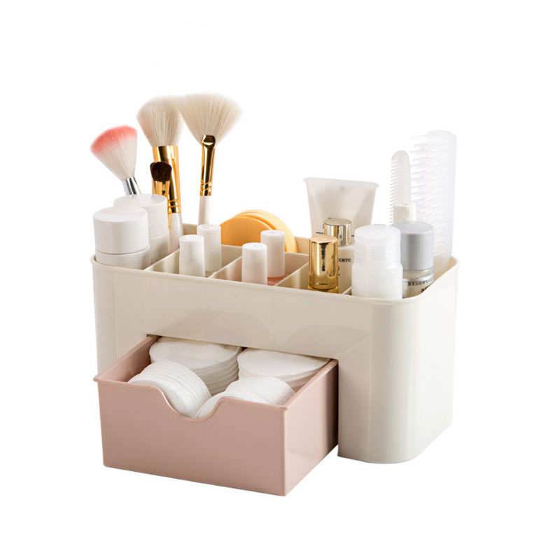 Cosmetic Storage Box Multifunction PP Plastic Household Desktop Storage Boxes With Drawer Organizer For Makeup Stationery