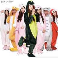 19 Styles Adult Flannel Animal Pajamas Panda Minion Womens Sleep Tops Cosplay Pijama Onesies Pyjamas Cartoon
