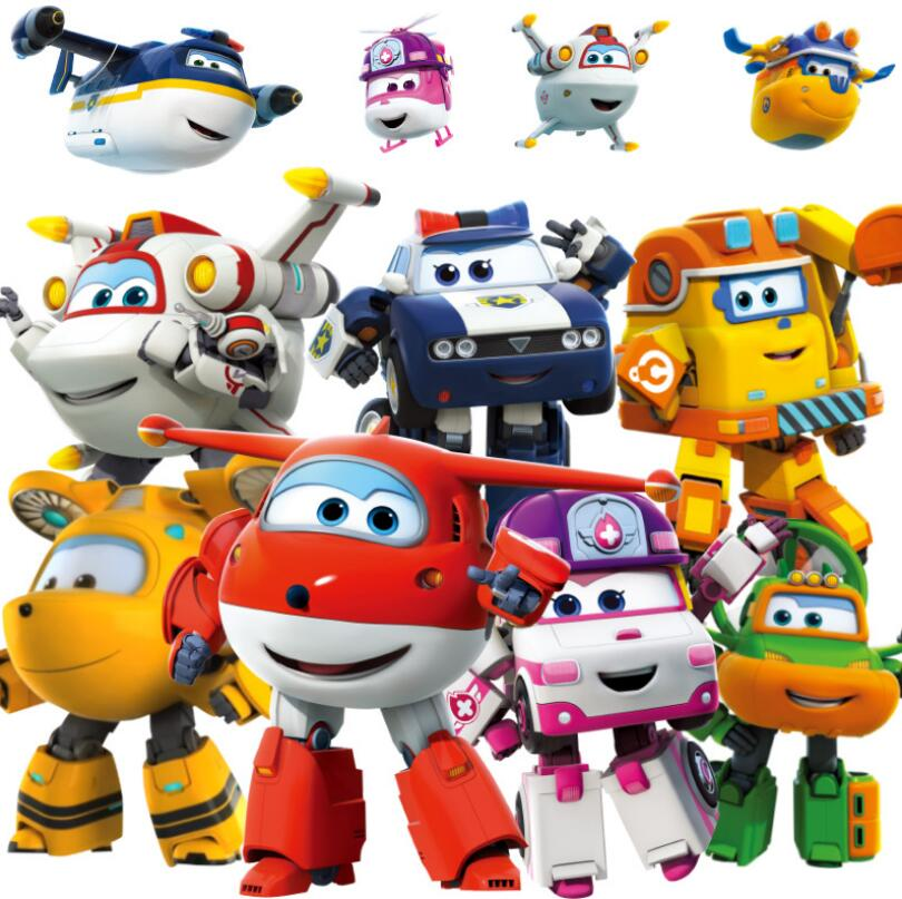 Big Size Original Mini Super Wings ABS Robot Toys Action Figures Super Wing Transformation Jet Animation Children Gift with box Игрушка
