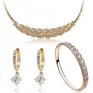 austrian crystal 24k gold-colo