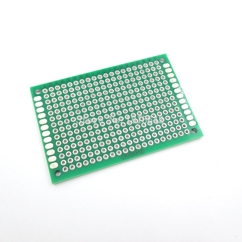 5PCS/Lot 4*6CM Double-Side Copper Prototype PCB Universal Printed Circuit Board 4x6cm Breadboard Plate Wholesale