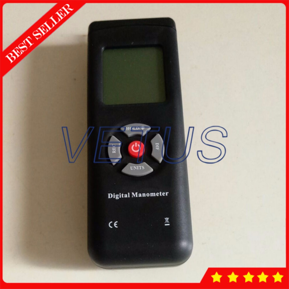 2psi LCD Differential Pressure Gauge TL-100 Digital Manometer tester Meter 11 measurement selectable units Data hold function