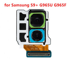 Çift 12 milyon piksel yedek parçalar, arka arka kamera kablosu kablosu Samsung Galaxy S9 artı SM G965U G965F