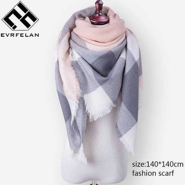 cea039fee0 Mode marque hiver écharpe pour femmes écharpe femme Plaid cachemire écharpe  femmes chaud carré châle et