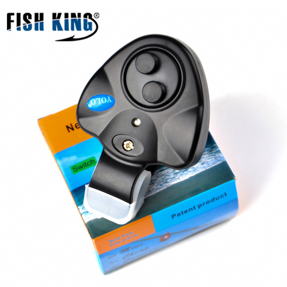 FISH KING 1pcs 40g Fishing Electronic LED Light Fish Bite Sound Alarm Bell Clip On Fishing Rod Black Tackle Fishing accessories  4