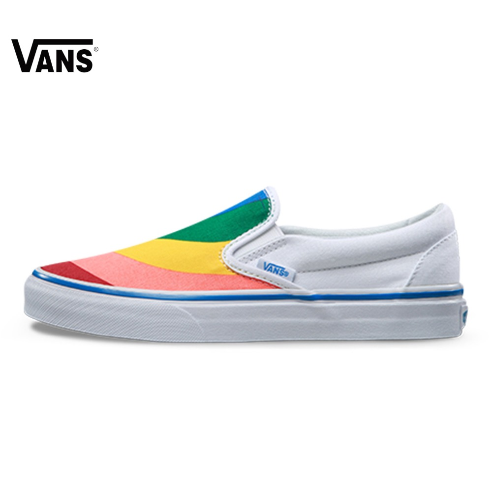 все цены на Original New Arrival Vans Women's Classic Slip-On Low-top Skateboarding Shoes Sport Outdoor Canvas Sneakers VN0A38F79NK онлайн