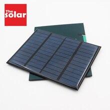 แผงพลังงานแสงอาทิตย์ 12V MINI SOLAR ระบบ DIY สำหรับแบตเตอรี่โทรศัพท์มือถือแบบพกพาพลังงานแสงอาทิตย์ 1.5W 1.8W 1.92W 2W 2.5W 3W 4.2W
