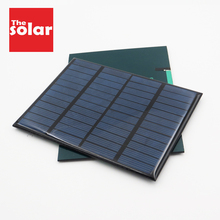 Panneau solaire 12V Mini système solaire bricolage pour batterie chargeur de téléphone Portable cellule solaire 1.5W 1.8W 1.92W 2W 2.5W 3W 4.2W