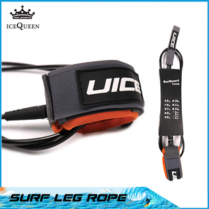 Free shipping Premium 7mm 6mm 7ft/8f/9ft/10ft Surfboard Leash Paddle board leash 1 Year Warranty Surf Leg rope