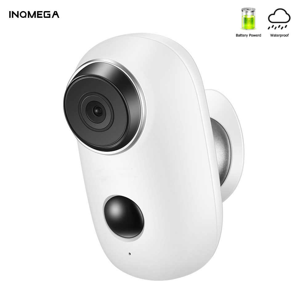 INQMEGA 1080P 100% Wire-Free Rechargeable Battery IP Wifi Camera PIR Motion Alarm Weatherproof IP65 CCTV Security Wide View Cam