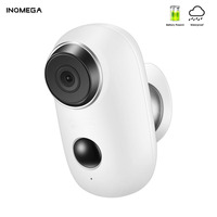 INQMEGA 1080P 100% Wire Free Rechargeable Battery IP Wifi Camera PIR Motion Alarm Weatherproof IP65 CCTV Security Wide View Cam