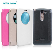For LG G3 Stylus Flip Case NILLKIN Sparkle Series PU Leather Case For LG G3 Stylus / D690 mobile phone case protective cover