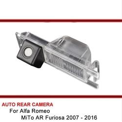 Dla Alfa Romeo MiTo AR Furiosa 2007 2016 HD CCD noktowizor wyświetlacz tyłu samochodu Park Monitor Parking rewers Backup kamera tylna w Kamery pojazdowe od Samochody i motocykle na