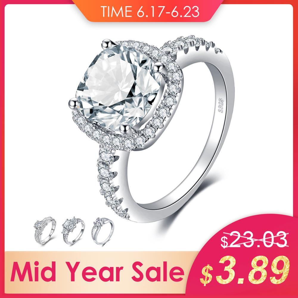 JewelryPalace 3ct Cubic Ziconia Halo Solitaire Engagement Rings 925 Sterling Silver Wedding Promise Rings Anniversary GiftsJewelryPalace 3ct Cubic Ziconia Halo Solitaire Engagement Rings 925 Sterling Silver Wedding Promise Rings Anniversary Gifts