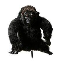 Гольф клуб головной убор плюшевые животные шимпанзе деревянные покрытия гольф защитный чехол Бесплатная доставка