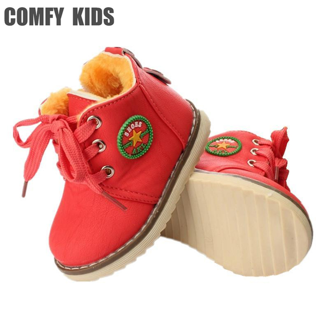 ec5c34c5 Size 21-30 Winter Warm Baby Boys Snow Boots Shoes Fashion Thicken Soft  Bottom Sole Baby Girls Boots Comfy Kids Child Snow Boots