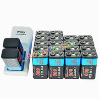 20x 9V 600mAh Rechargeable PPS Batteries + Charger Block Battery Ni Mh Dual 6F22