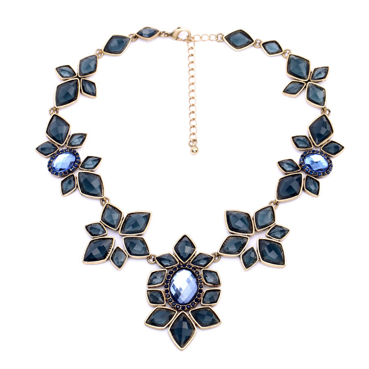 long item bijoux necklace in for femme from stone owl women blue crystal costume fashion pendants necklaces kymyad jewelry jewellery pendant