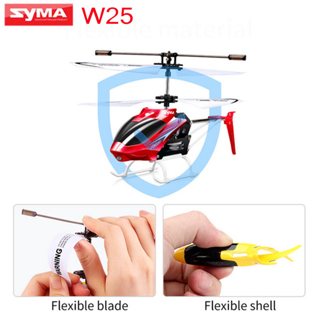 New Listing SYMA W25 RC Helicopter 2CH Indoor Small RC Electric Aluminium  Alloy Mini Drone Remote Control Shatterproof boys toys-in RC Helicopters