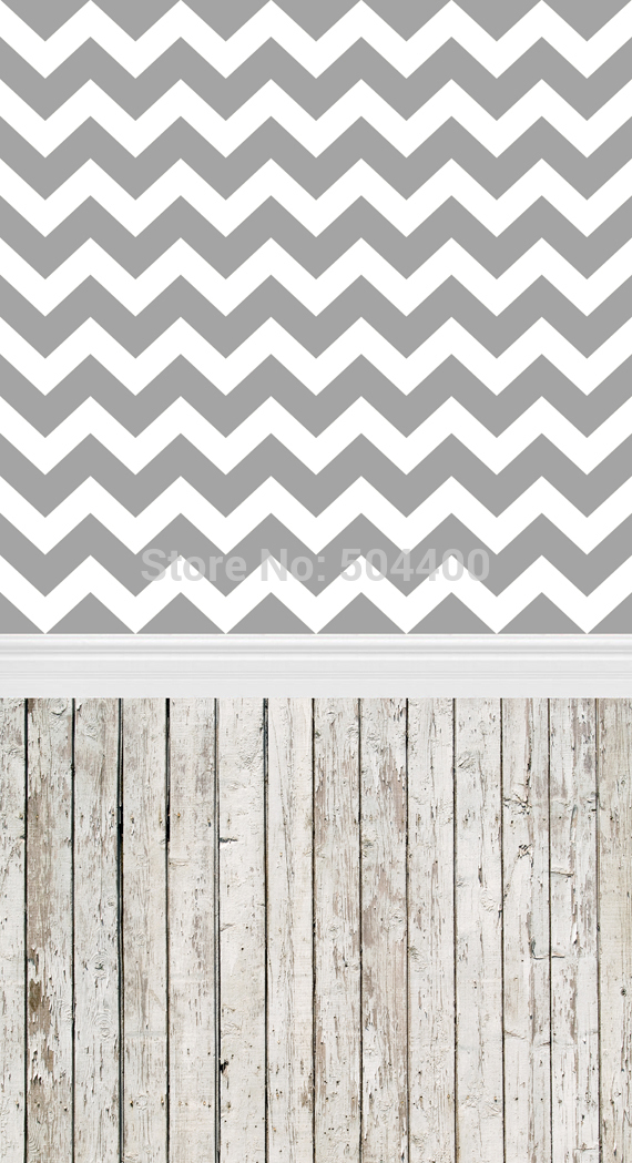 5X10ft 150*300cm Art fabric photo studio newborn backdrop photography background gray seamless chevron backdrop D-038
