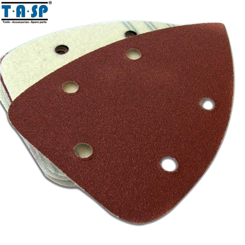 TASP 25pcs 140x100mm Palm Sander Sandpaper Hook & Loop Abrasive Sanding Paper Disc Grit 60 80 120 180 240 Abrasive Tools
