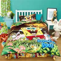 Venda quente dos desenhos animados conjunto de cama impressão cama minions roupas de cama capa edredão folha crianças conjuntos cama venda quente
