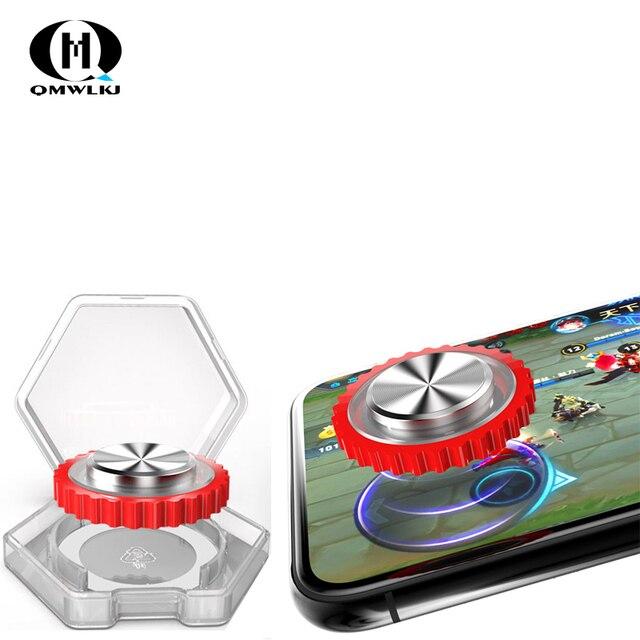 Mới Q10 Tròn Cần Điều Khiển Chơi Game Di Động Điện Thoại Đính Đá/Màn Hình Cảm Ứng Ống Hút Cho Iphone Android Máy Tính Bảng Kim Loại Bộ Điều Khiển Nút Bấm