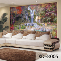 Custom 3D Print Fabric Textile Wallcoverings For Walls Murals Scenery Washable Matt Silk For Living Room