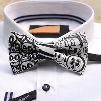 Frete Grátis novo 2016 dos homens casual masculino mna Artesanal Moda Europa Série Fantasma PARTIDO presente de casamento bow tie Ocidental Headwear