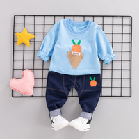 Baby Boy Girl Clothing Sets Casual Boy Clothes Tracksuit for Boys Carrot hooded Coat +Pants Newborn Boy Clothes 1 2 3 4 Years