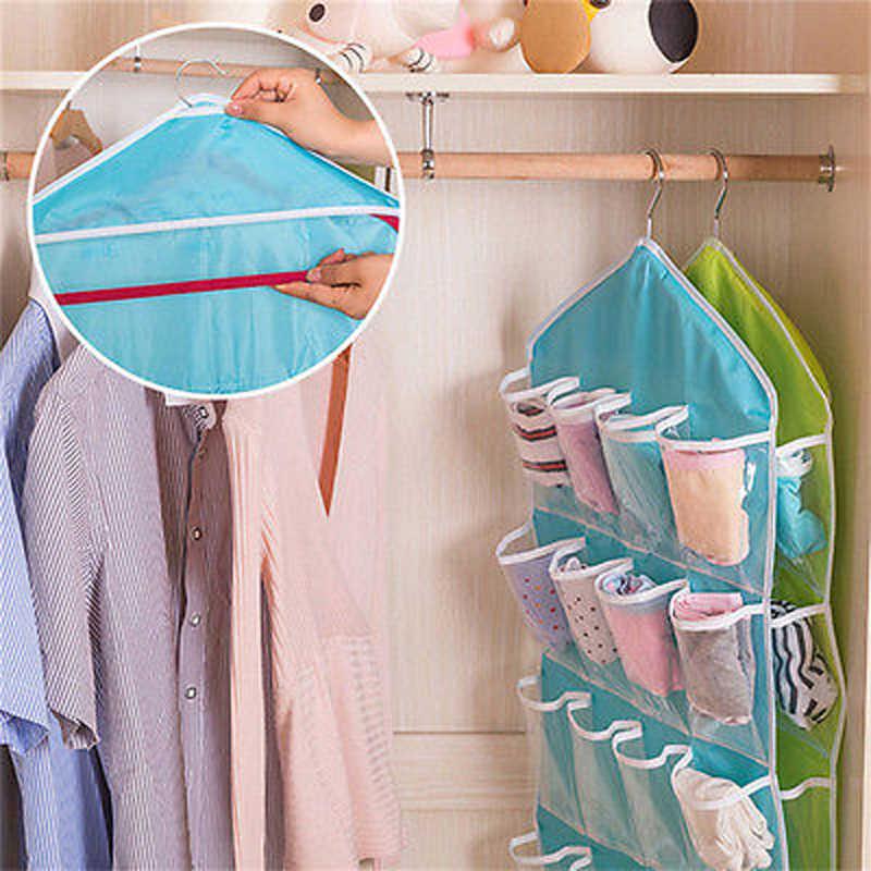 رف خزانة تخزين خزانة رف معلق المنظم جيوب للملابس جورب طوي تخزين و حقيبة للملابس الداخلية