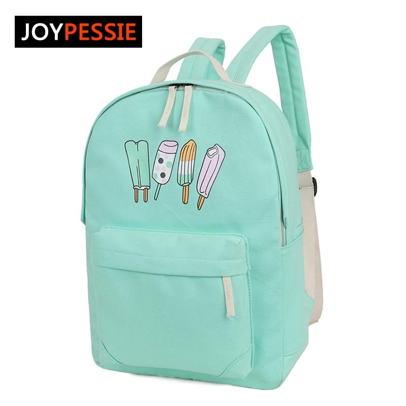 joypessie designer girls boys backpack ice cream pattern school rucksack for teenage girls high quality school