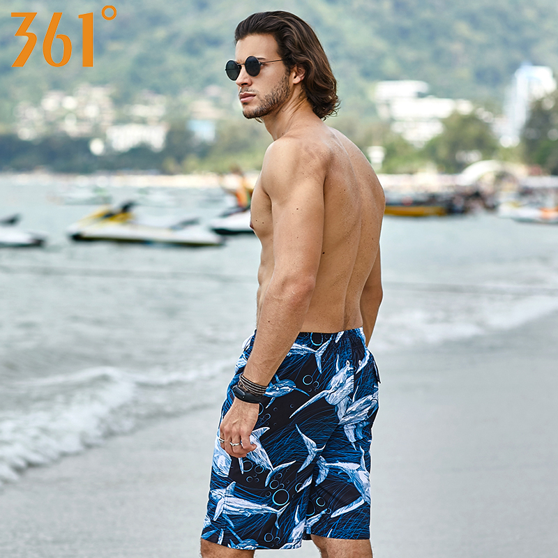 361 Swim Shorts Mens Swimwear Plus Size Men Beach Shorts Pool Swimming Trunk Surf Boxer Shorts Pocket Summer Quick Dry Shorts in Surfing Beach Shorts from Sports Entertainment