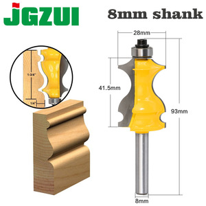 Image 1 - 1PC 8mm Shank Architectural Cemented Carbide Molding Router Bit Trimming Wood Milling Cutter for Woodwork Cutter Power Tools
